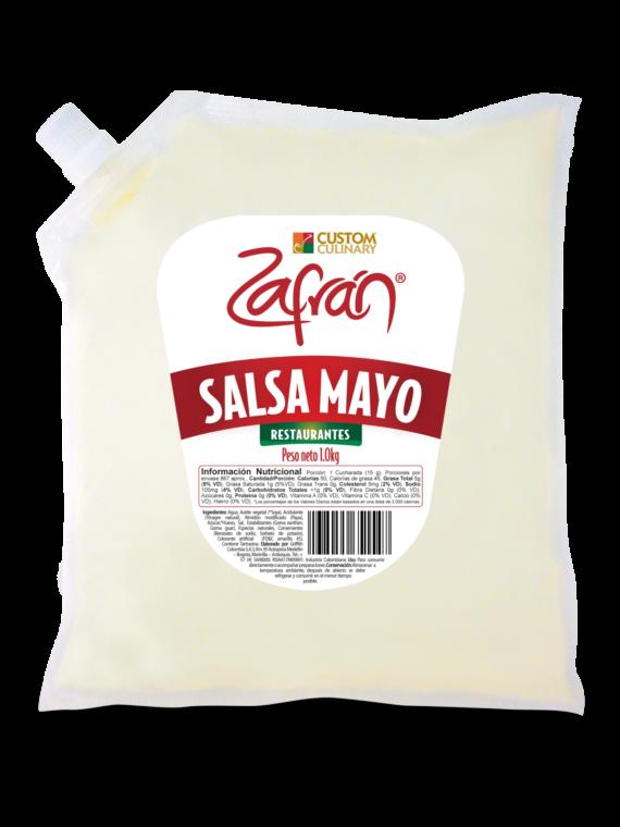 salsa mayo en bolsa con válvula para restaurantes