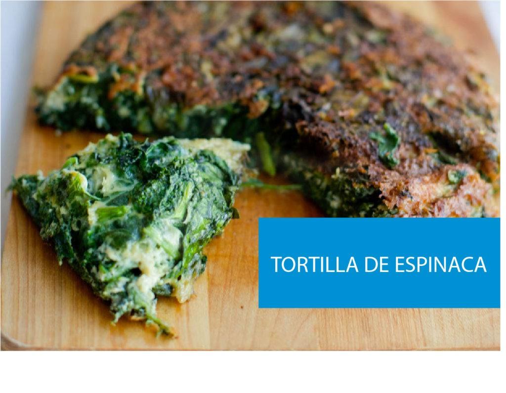 Receta de tortilla de espinaca