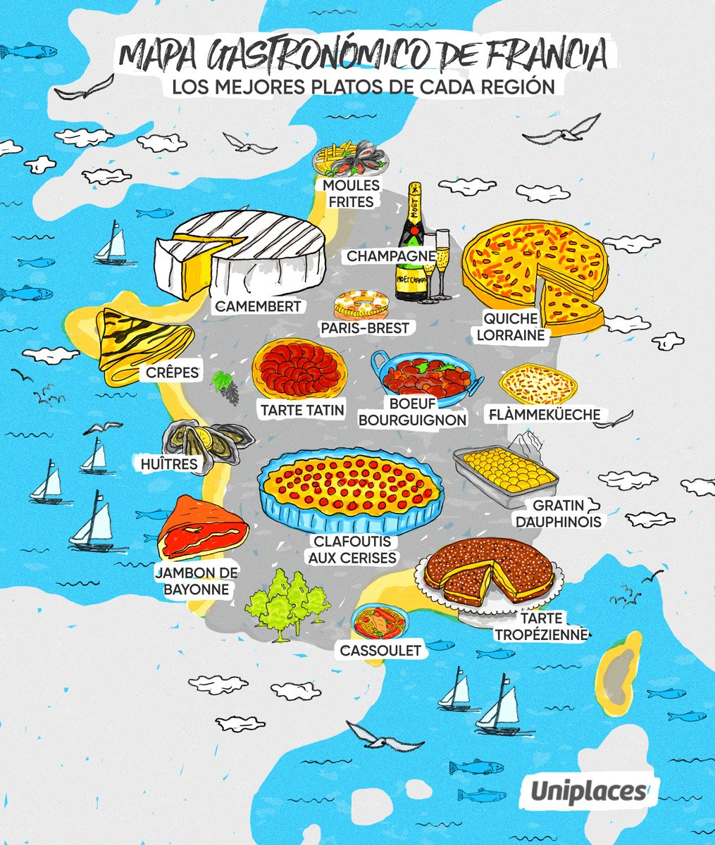 mapa gastronomia francesa