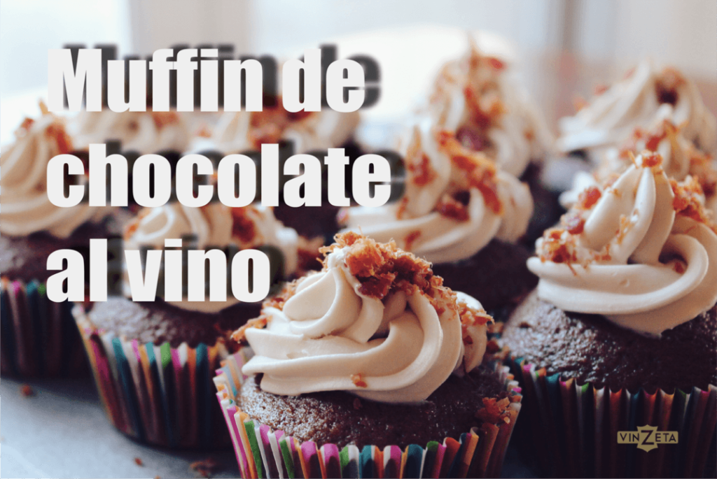 Muffin de chocolate al vino