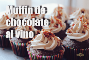Muffin de chocolate al vino