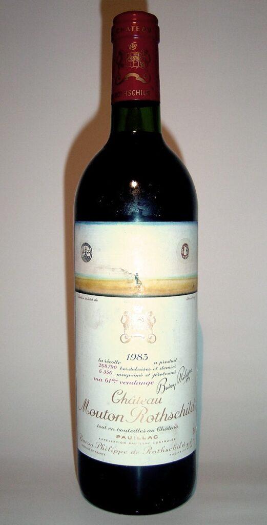 vino hâteau Mouton Rothschild 1945